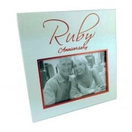 40th Ruby Anniversary 6 x 4 Photo Frame