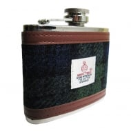 4oz Harris Tweed Hip Flask Black Watch