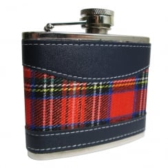 4oz Red Tartan Hip Flask