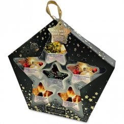6 Star Shaped Soy Wax Melt Christmas Gift Set