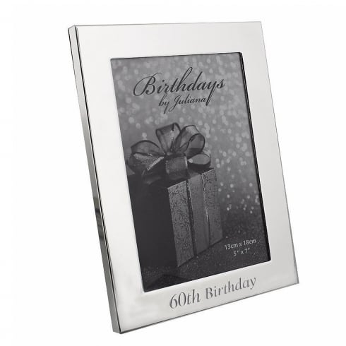 Impressions By Juliana 60th Birthday Silver Plated 5 x 7 Photo
