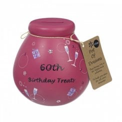 60th Birthday Treats Ceramic Money Pot