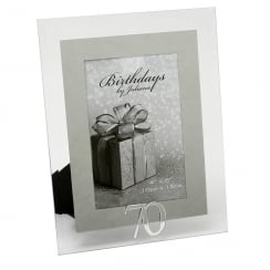 70th Birthday Glass and Mirror 4 x 6 Photo Frame