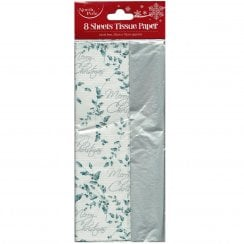 8 Sheets of Xmas Holly Tissue Paper
