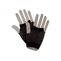 80s Net Gloves Black