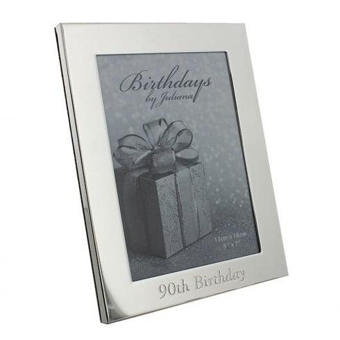 Impressions By Juliana 90th Birthday Silver Plated 5 x 7 Photo Frame