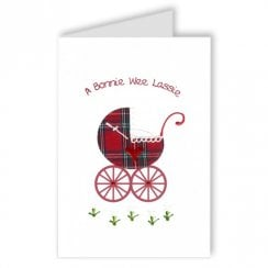 A Bonnie Wee Lassie - New Baby Girl Card