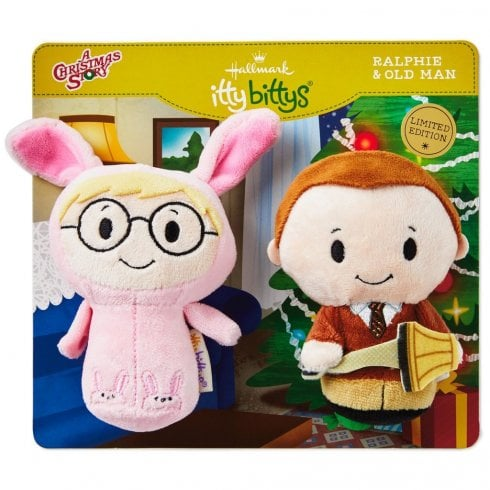 Hallmark Itty Bittys A Christmas Story Ralphie and Old Man Parker Set of 2 US Edition