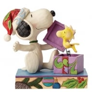 A Christmas Surprise Snoopy and Woodstock Figurine