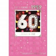 A Day To Remember In 1959 60th Female Birthday Card
