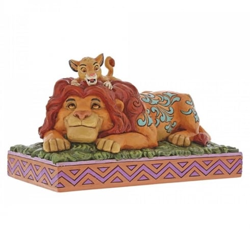 Disney Traditions A Fathers Pride Simba & Mufasa Figurine