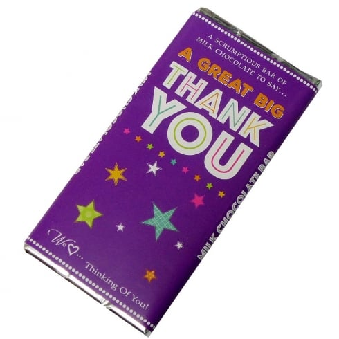 Words & Wishes A Great Big Thank You Milk Chocolate Bar