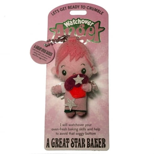 Watchover Angels A Great Star Baker Angel Keyring