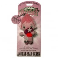 A Great Star Baker Angel Keyring