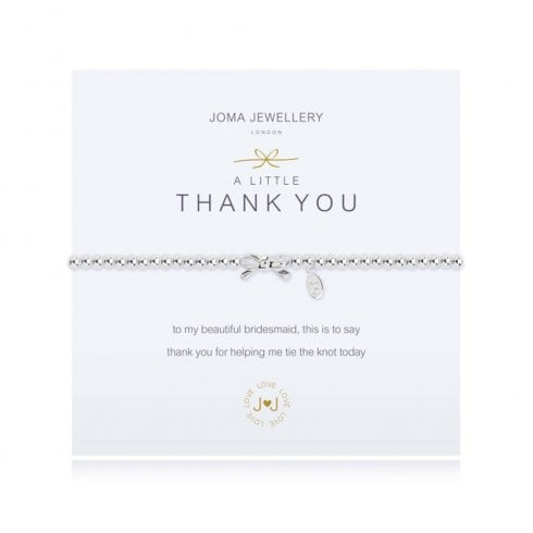 Joma Jewellery A Little Bridesmaid Thank You Bracelet