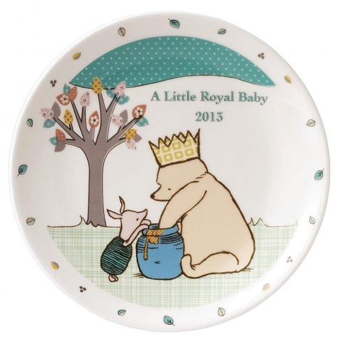 Classic Pooh A Little Royal Baby - Ceramic Plate 2013