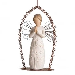 A Tree A Prayer Angel Trellis Hanging Ornament