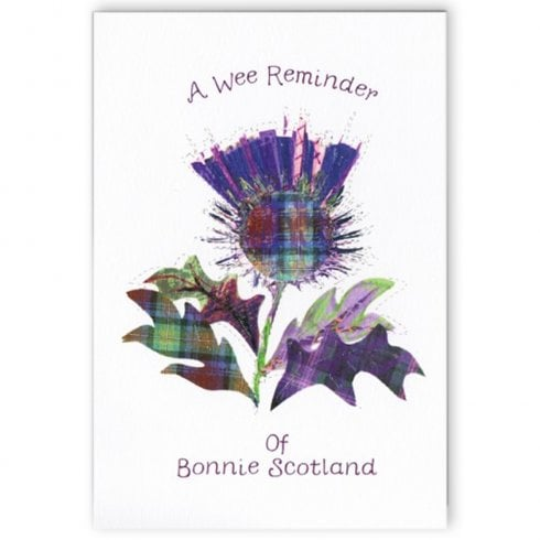 Embroidered Originals A Wee Reminder of Bonnie Scotland Thistle Card