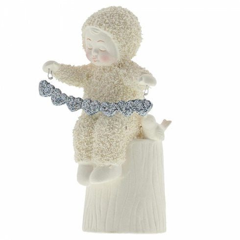 Snowbabies A Whole Lot Of Love Snowbaby With Garland Figurine