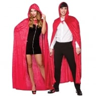 Adult Deluxe Velvet Hooded Cape Red