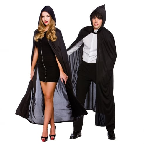 Wicked Costumes Adult Hooded Cape 132cm Black