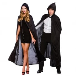 Adult Hooded Cape 132cm Black