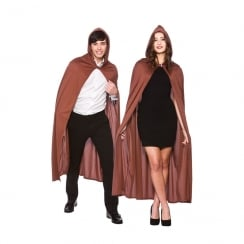 Adult Hooded Cape - Brown 132 cm