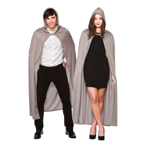 Wicked Costumes Adult Hooded Cape - Grey 132 cm