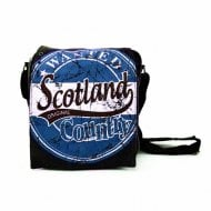 Alex Scotland Messenger Bag Small Black/Royal Blue