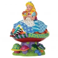 Alice In Wonderland Alice on Mushroom Figurine