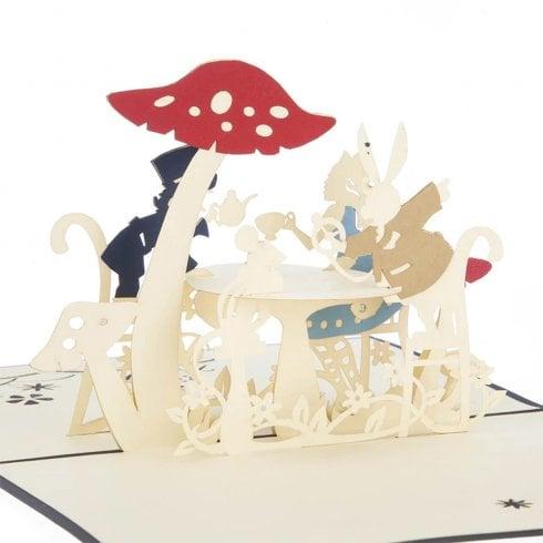 Cardology Alice In Wonderland Mad Hatters Tea Party Pop Up Card