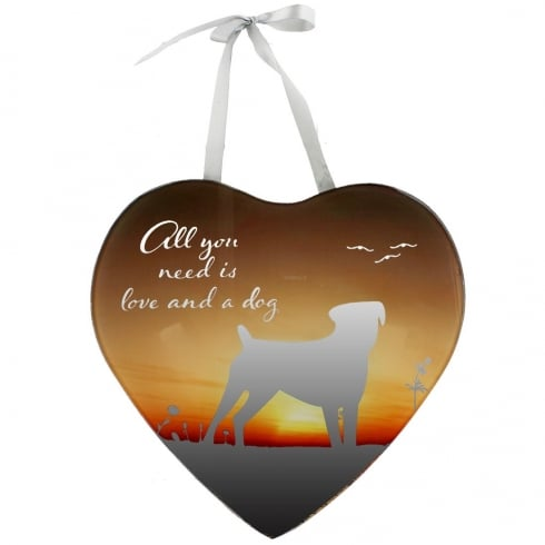 All You Need Is Love And A Dog Mirror Plaque