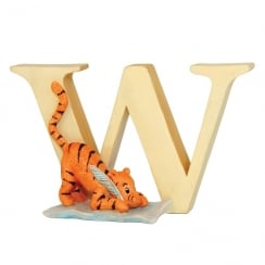 Alphabet Letter W Tigger Writing Figurine