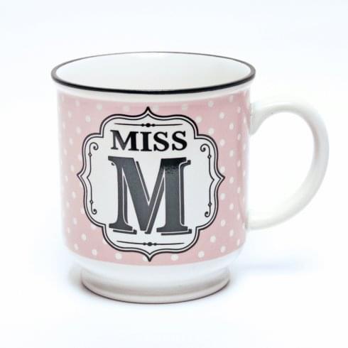 History & Heraldry Alphabet Mug - Miss M