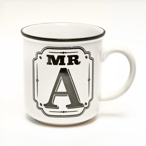 History & Heraldry Alphabet Mugs-Mr A