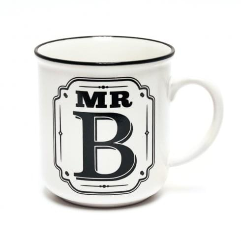 History & Heraldry Alphabet Mugs-Mr B