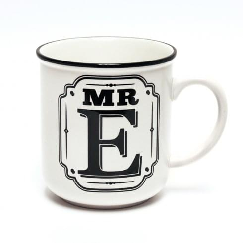 History & Heraldry Alphabet Mugs-Mr E