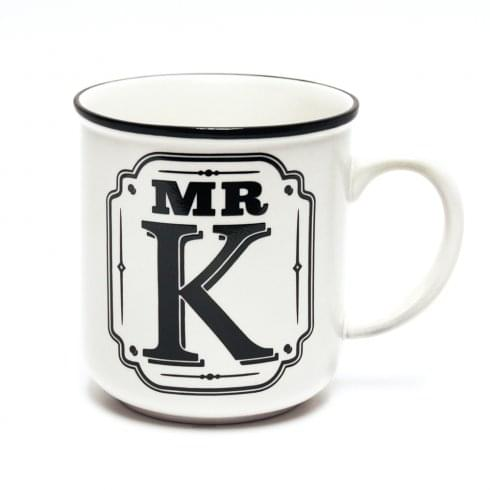 History & Heraldry Alphabet Mugs-Mr K