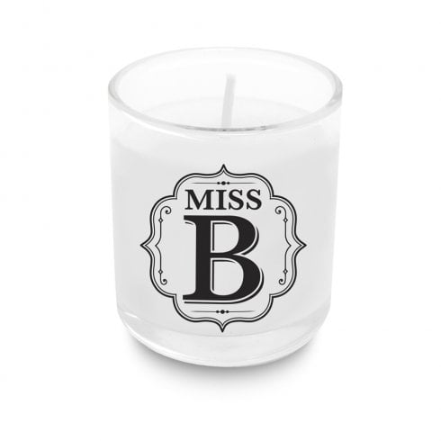 Alphabet Votive Candle - Miss B