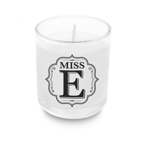 Alphabet Votive Candle - Miss E