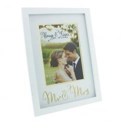 Always & Forever Gold Words Mr & Mrs 5 x 7 Photo Frame