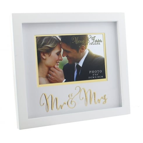 Impressions By Juliana Always & Forever Gold Words Mr & Mrs 6 x 4 Photo Frame