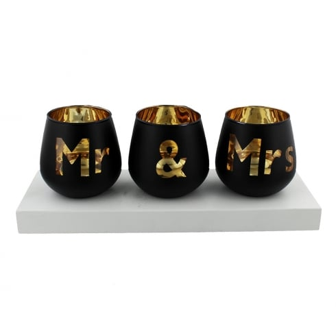 Widdop Bingham Always & Forever Tea Light Holder Mr & Mrs