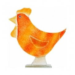 Amber Glass Hen