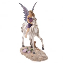 Amethyst Rider Fairy Figurine By Lisa Parker