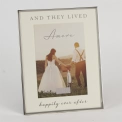 And They Lived Happily Ever After 5 x 7 Wedding Photo Frame