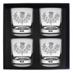 Anderson (of Wester Ardbreck) Clan Crest Whisky Glass Set of 4