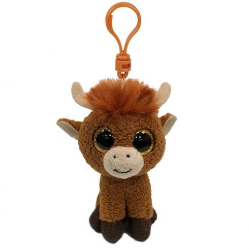 TY Beanie Boo Angus Highland Cow Soft Plush Keyring 35214 b766f373a56