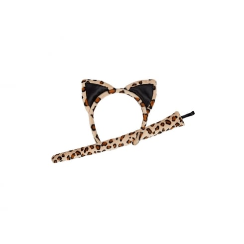 Wicked Costumes Animal Ears & Tail (Adult) Leopard