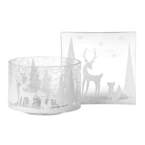 Yankee Candle Arctic Forest Shade and Tray Set